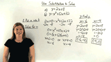 How Do You Solve a System of Equations Using Substitution if One Equation is a Quadratic?