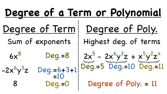 How Do You Find the Degree of a Polynomial? -- Virtual Nerd can help