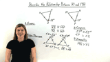 How Do You Use the Hinge Theorem to Compare Side Lengths in Two Triangles?