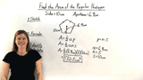 How Do You Find the Area of a Regular Polygon When You Know the Length of the Apothem?