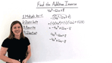 How Do You Find the Additive Inverse of a Polynomial?